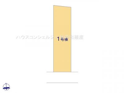 【区画図】名古屋市中村区剣町127-1【仲介手数料無料】新築一戸建て