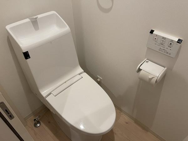 温水洗浄便座付きトイレが2ヶ所あります。