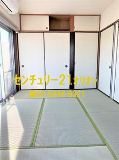 押入が併設されている6帖の和室です。