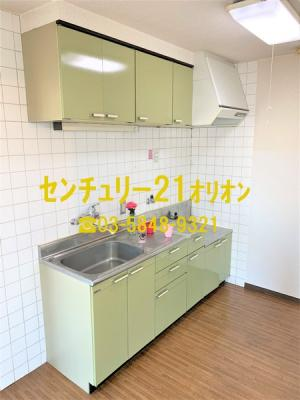 自炊に便利な2口ガスコンロ設置可能です。