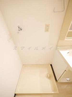 室内洗濯機置き場・ドラム式洗濯機も置けるスペースです。