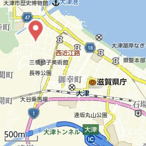 【地図】エリーフラッツ浜大津