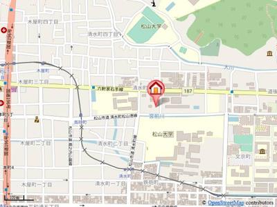 【地図】ハイツゆう