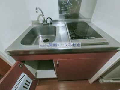 【キッチン】レオパレスウィル