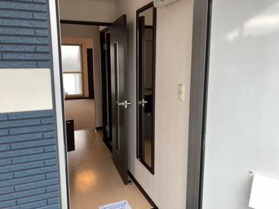 屋根付き駐輪場。