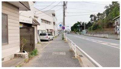 【前面道路含む現地写真】茅ヶ崎市中島 売地