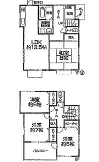 千葉市中央区今井 中古一戸建て 蘇我駅 全居室6帖以上のため広々とお使いいただけます