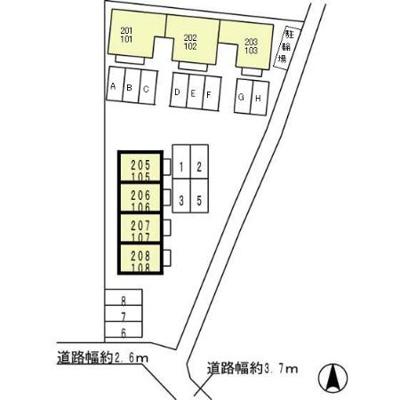 【区画図】ガーデン・シャトレi 単身棟