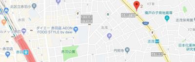 【地図】スパシエルクス赤羽
