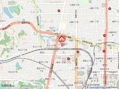 【地図】第75杉フラット