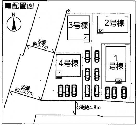 【区画図】高崎市沖町第1 1号棟・平屋/クレイドルガーデン