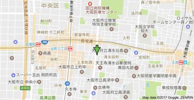 【地図】ナニワランド上本町