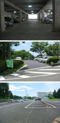 駐車場利用案内 ・地下駐車場(22台) ・第1駐車場(11台) ・第2駐車場(77台)※敷地外
