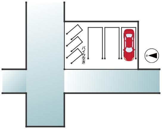 バイク置き場の区画図です