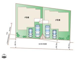 【区画図】糸満市座波の新築売戸建て