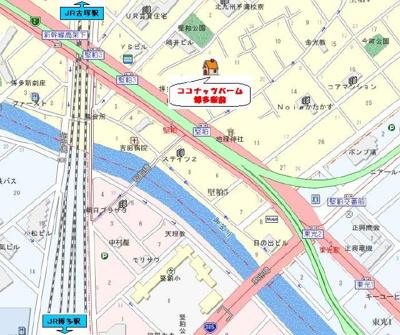 【地図】ココナッツパーム博多駅前