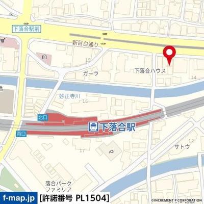 【地図】グランヴァン高田馬場