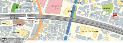 【地図】スカイコート新宿第7
