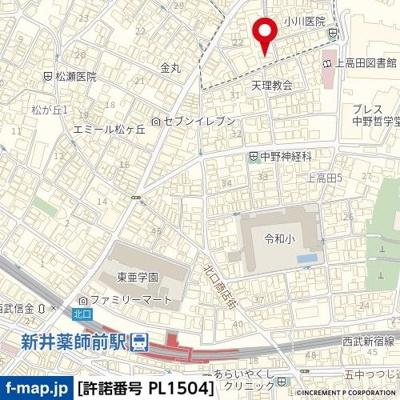 【地図】ルーブル新宿西落合伍番館