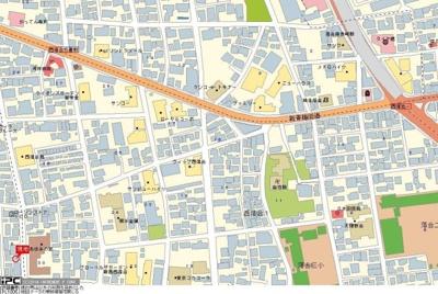 【地図】アーバイル新宿西落合