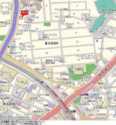 【地図】パレステュディオ目黒東