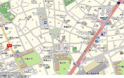 【地図】ルーブル西馬込参番館