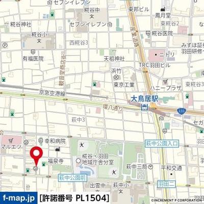 【地図】esora萩中