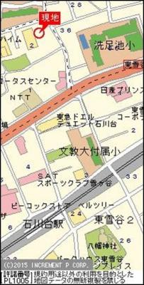 【地図】クリオ石川台壱番館