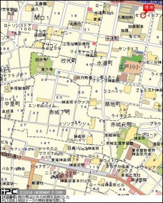 【地図】アクティブミレニアム江戸川橋