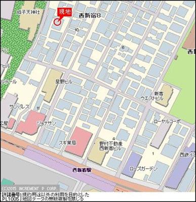 【地図】プレール西新宿