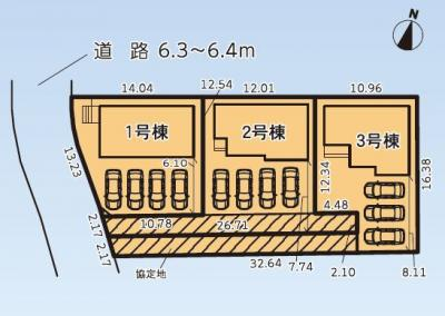 【区画図】袋井市上山梨 3期 新築一戸建て 1号棟 TK