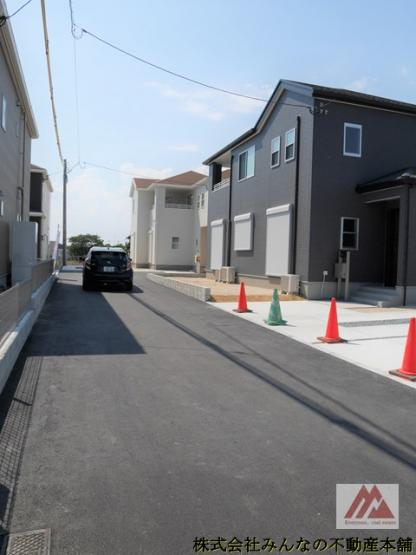【前面道路含む現地写真】久留米市三瀦町第3 オール電化4号棟 一建設株式会社