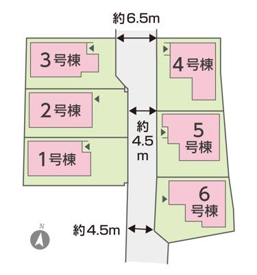【区画図】 全区画中、一番南西にある区画になります。