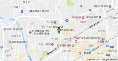 【地図】ロイヤル高槻 (株)Roots