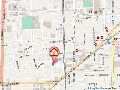 【地図】サン住吉Ⅱ