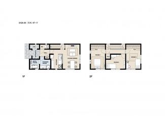 ジブンハウスプラン例 建物面積113.45m2 建物価格1640万円