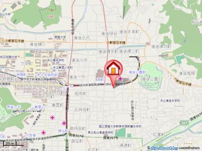 【地図】南町ハイム A棟