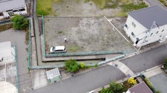 【外観】甲府市大里町 建築条件なし売地 敷地119.80坪
