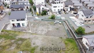 甲府市大里町 建築条件なし売地 396.04平米の広々敷地 新興住宅街の一角です。