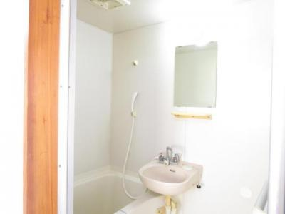 浴室内洗面ボールと鏡