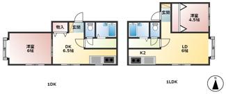 1LDK×2世帯、1DK×2世帯、計4世帯です。