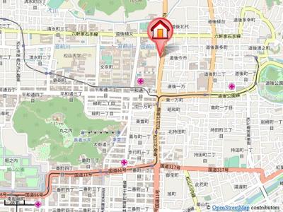 【地図】シャンティ道後今市