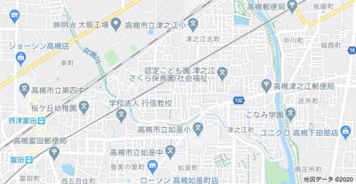 【地図】津之江町1丁目貸家 (株)Roots