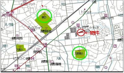 【地図】大島分譲地Ⅱ期