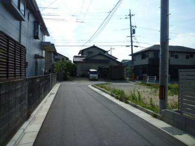 【前面道路含む現地写真】大島分譲地Ⅱ期
