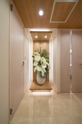 シティタワー麻布十番:玄関・廊下は高級感ある大理石貼りです!