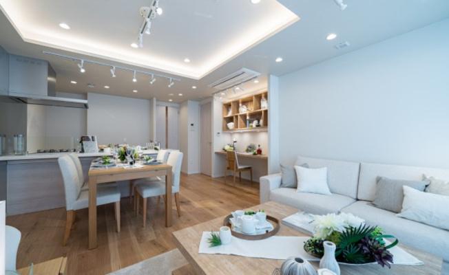 シティタワー麻布十番:白や木目を基調としたリビングダイニングキッチンです!