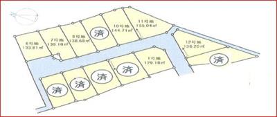 【区画図】月輪5丁目 分譲13区画6号地