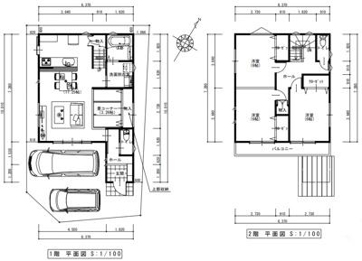 建物プラン例平面図