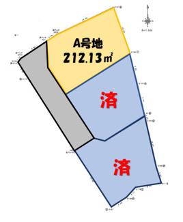 【土地図】南多田字堀塚分譲地A号地
